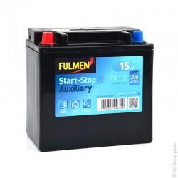 batterie exide start-stop auxiliary fk151 12v 15ah - 0