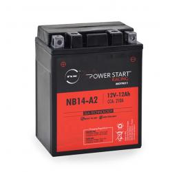 batterie moto yb14a-a2 12 v 12ah 210 cca - 0