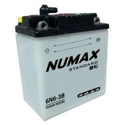 batterie moto  6n6-3b 6 v 6ah 40 cca - 0
