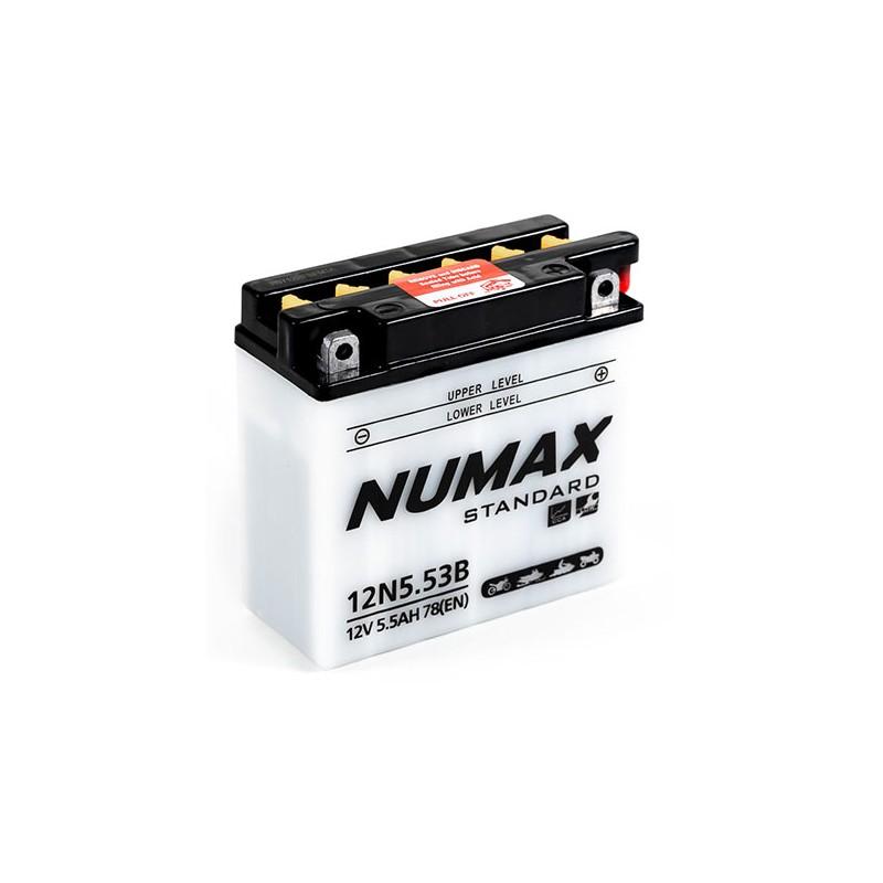 batterie moto  12n5.5-3b 12 v 5.5ah 78 cca - 0