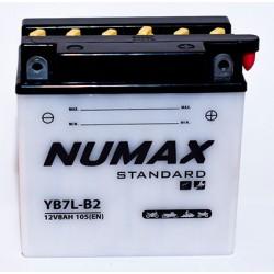 batterie moto  yb7l-b 12 v 7ah 105 cca - 0