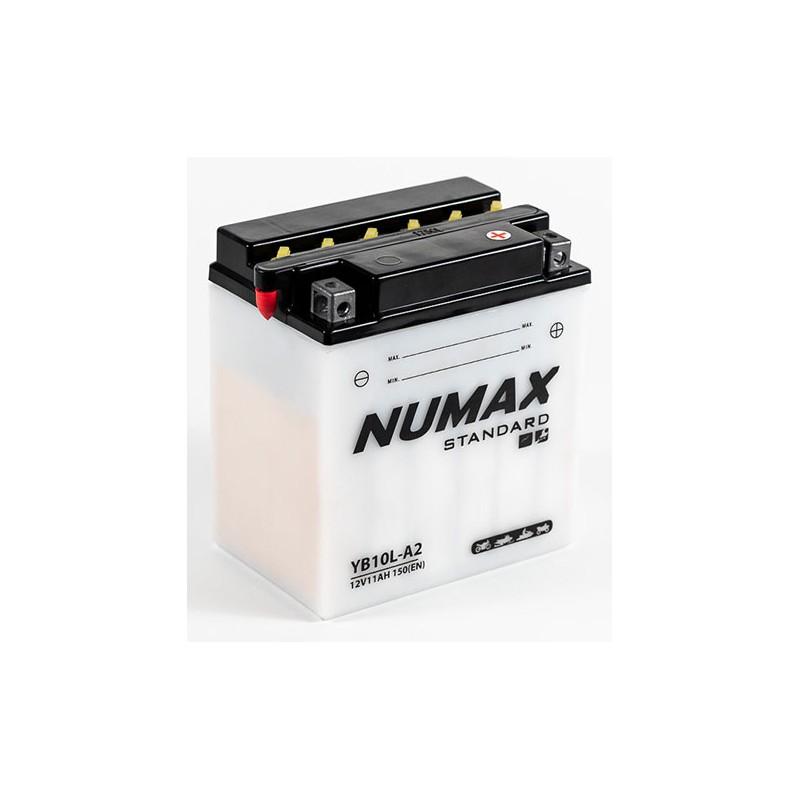 batterie moto  yb10l-a2 12 v 11ah 120 cca - 0