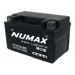 batterie moto  ytx7a-bs numax 12 v 6ah 105 cca - 0
