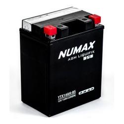 batterie moto  ytx14ah-bs numax 12 v 13ah 220 cca - 0