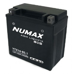 batterie moto  ytx16-bs-1 numax 12 v 14ah 230 cca - 0