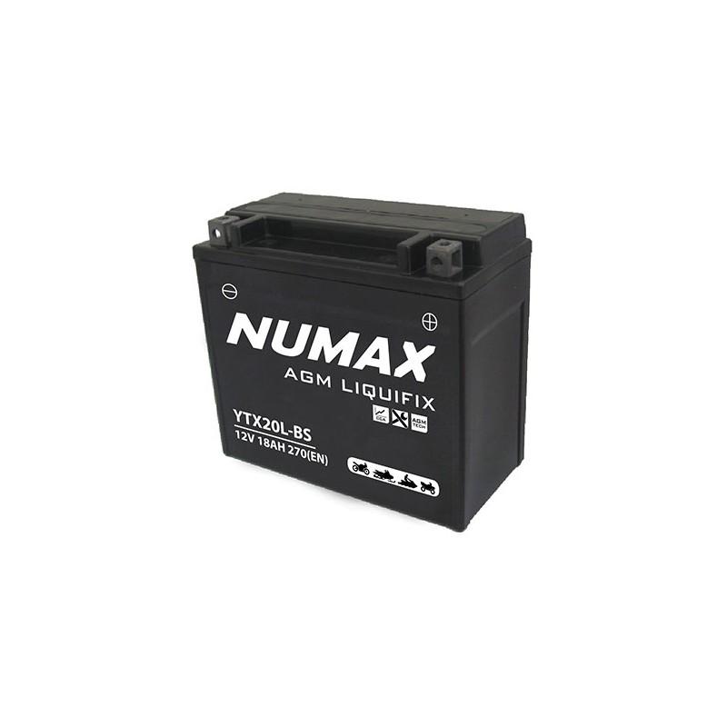 batterie moto  ytx20l-bs numax 12 v 18ah 270 cca - 0