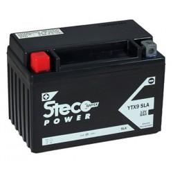 batterie moto  sla 8 ah 135 cca - ytx9-bs sla - 0