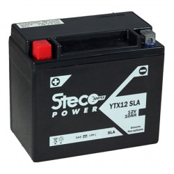 batterie moto  sla 10 ah 180 cca - ytx12-bs sla - 0