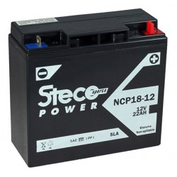 batterie moto  sla 22 ah 300 cca - ncp18-12 - 0