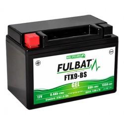 batterie moto gel ytx9-bs   ftx9-bs - 0
