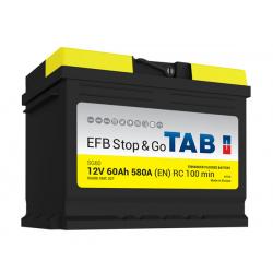 tab batterie efb   ( - + ) 60ah 600a sg60 - 0