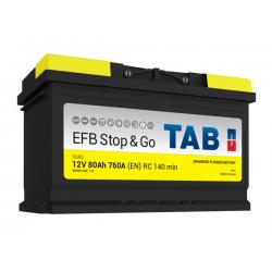 tab batterie efb   ( - + ) 80ah 760a sg80 - 0