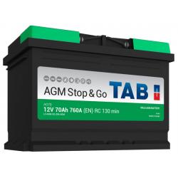 tab batterie agm ( - + ) 70ah 760a ag70 - 0