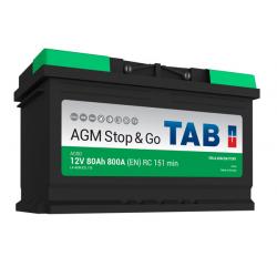 tab batterie agm  ( - + ) 80ah 800a ag80 - 0