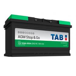 tab batterie agm ( - + ) 95ah 850a ag95 - 0