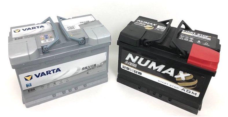 batterie AGM Varta et Numax